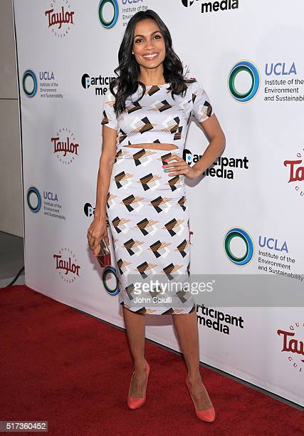 Actress Rosario Dawson attends UCLA Institute of the Environment and Sustainability annual Gala on March 24 2016 in Beverly Hills California