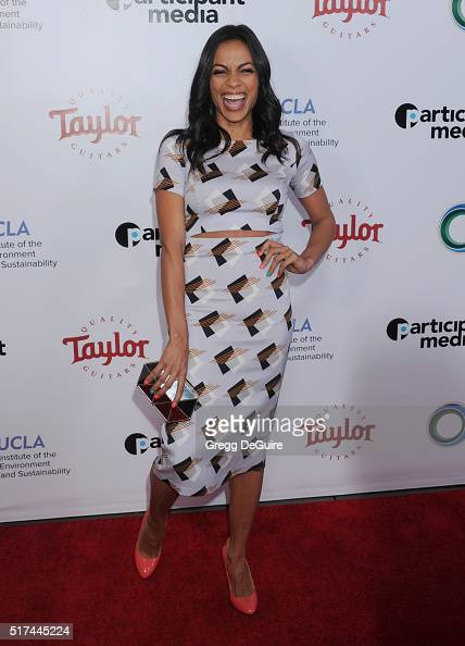 Actress Rosario Dawson attends UCLA Institute of the Environment and Sustainability celebration of the Champions Of Our Planet's Future on March 24...