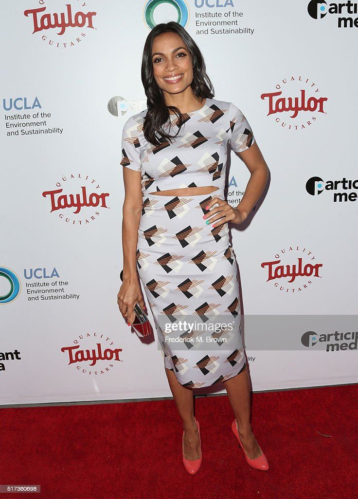 Actress Rosario Dawson attends UCLA IOES celebration of the Champions of our Planet's Future on March 24, 2016 in Beverly Hills, California.