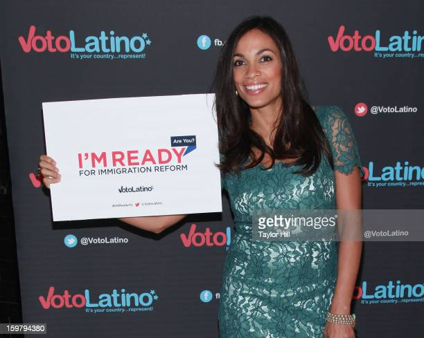 Actress Rosario Dawson attends Voto Latino's 2013 Inauguration Celebration at Oya Restaurant on January 20 2013 in Washington DC