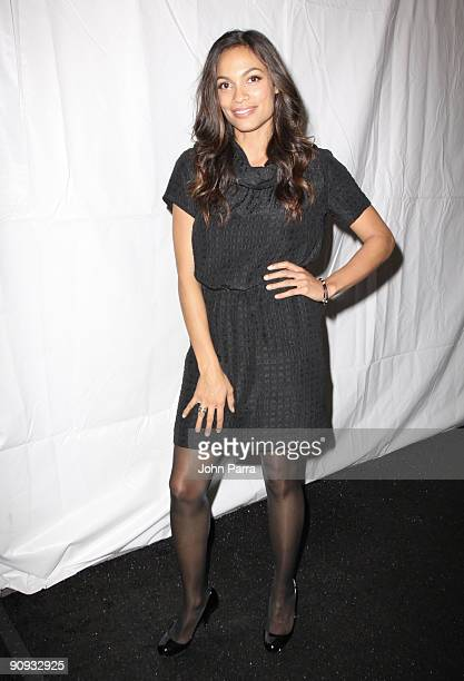 Actress Rosario Dawson is seen around Bryant Park during MercedesBenz Fashion Week on September 17 2009 in New York City