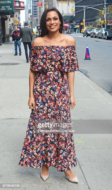 Actress Rosario Dawson is seen on April 20 2017 in New York City