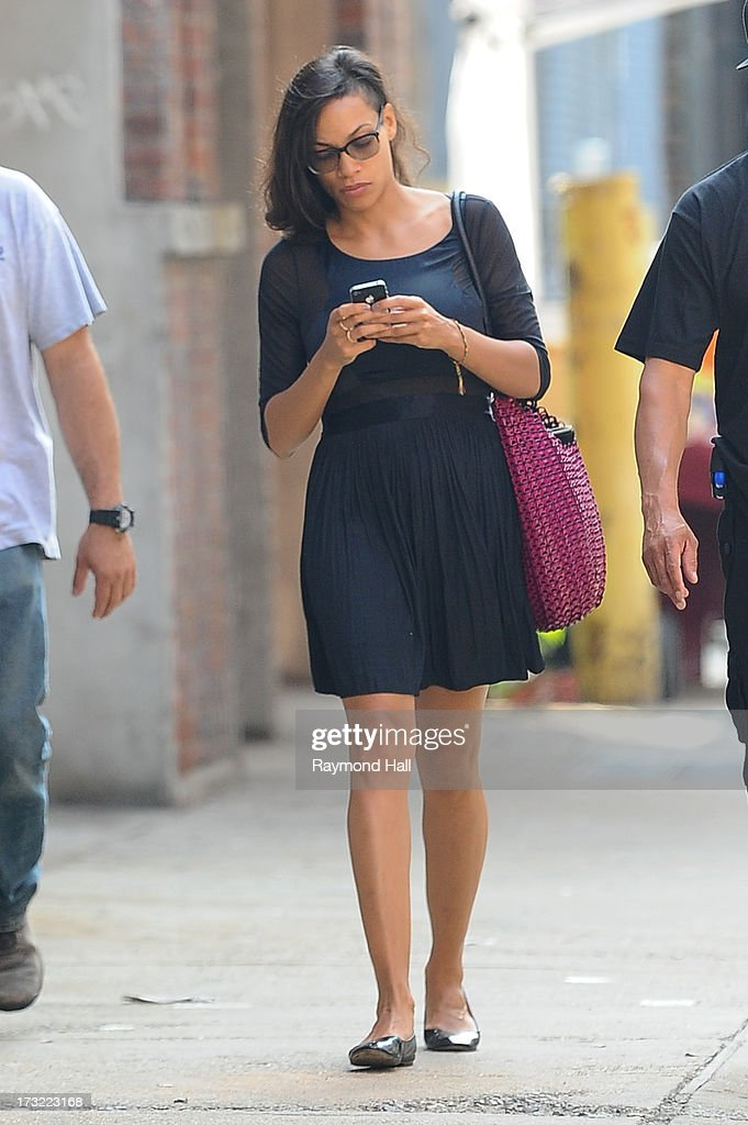 Actress Rosario Dawson is seen on the set of :The Untitled Chris Rock Project; July 10, 2013 in New York City.