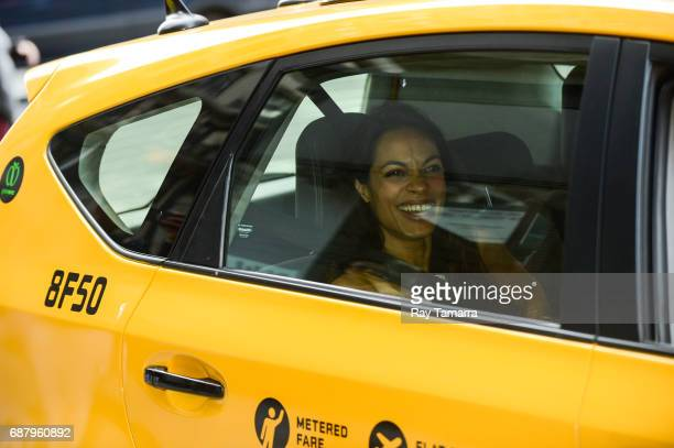 Actress Rosario Dawson leaves the 'AOL Build' taping at the AOL Studios on May 24 2017 in New York City