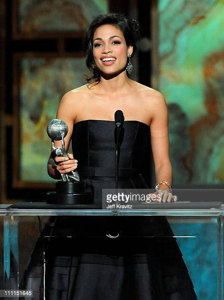 Actress Rosario Dawson onstage at the 40th NAACP Image Awards held at the Shrine Auditorium on February 12 2009 in Los Angeles California