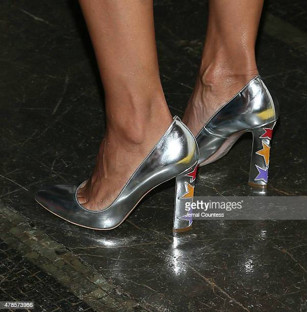 Actress Rosario Dawson shoe detail attends the 'Kids' 20th Anniversary Screening at BAMcinemaFest 2015 at BAM Peter Jay Sharp Building on June 25...
