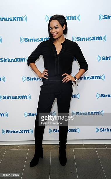 Actress Rosario Dawson visits the SiriusXM Studios on December 9 2014 in New York City