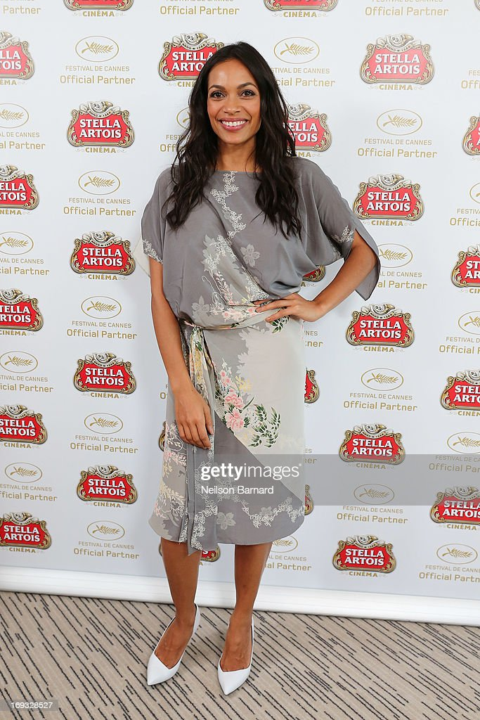 Actress <a gi-track='captionPersonalityLinkClicked' href=/galleries/search?phrase=Rosario+Dawson&family=editorial&specificpeople=201472 ng-click='$event.stopPropagation()'>Rosario Dawson</a> visits The Stella Artois Suite during The 66th Annual Cannes Film Festival at Radisson Blu on May 23, 2013 in Cannes, France.