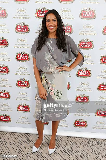 Actress Rosario Dawson visits The Stella Artois Suite during The 66th Annual Cannes Film Festival at Radisson Blu on May 23 2013 in Cannes France
