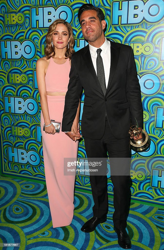 Actress Rose Byrne (L) and actor Bobby Cannavale attend HBO's Annual Primetime Emmy Awards Post Award Reception at The Plaza at the Pacific Design Center on September 22, 2013 in Los Angeles, California.