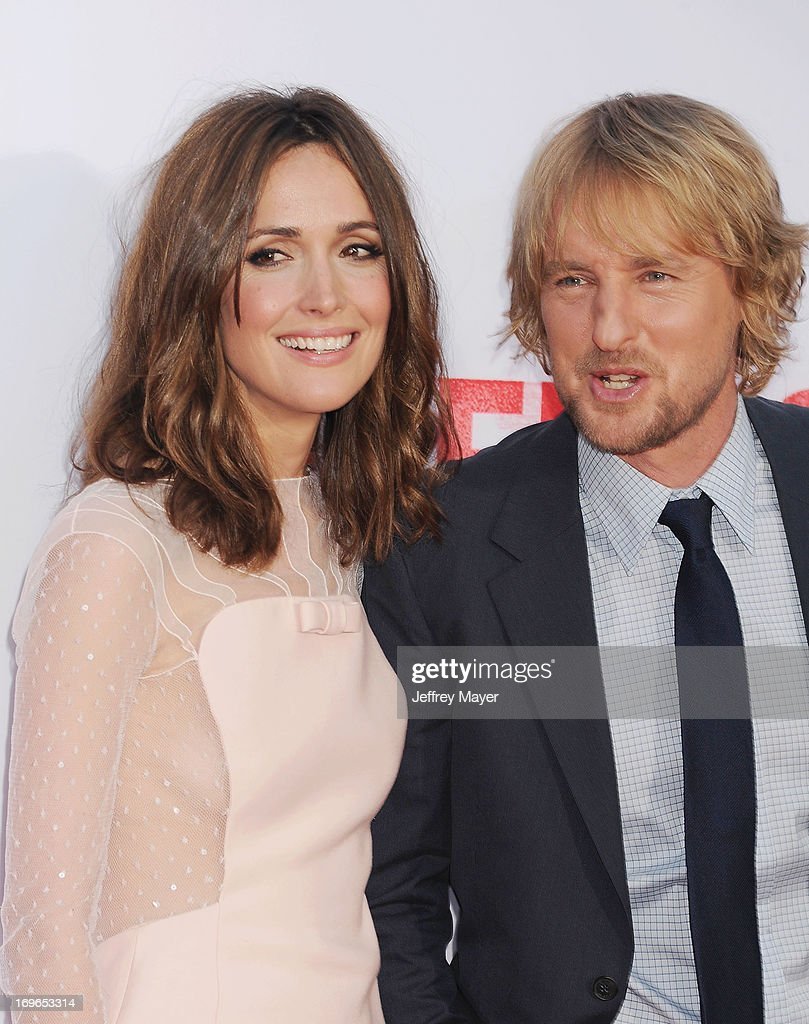 Actress Rose Byrne and actor Owen Wilson arrive at 'The Internship' - Los Angeles Premiere at Regency Village Theatre on May 29, 2013 in Westwood, California.
