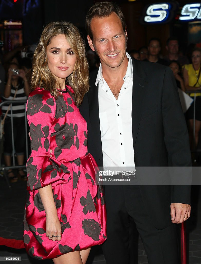 Actress Rose Byrne (L) and actor Patrick Wilson attend the premiere of FilmDistrict's 'Insidious: Chapter 2' on September 10, 2013 in Universal City, California.