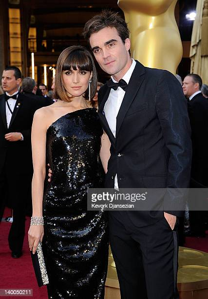 Actress Rose Byrne and brother George Byrne arrive at the 84th Annual Academy Awards held at the Hollywood Highland Center on February 26 2012 in...