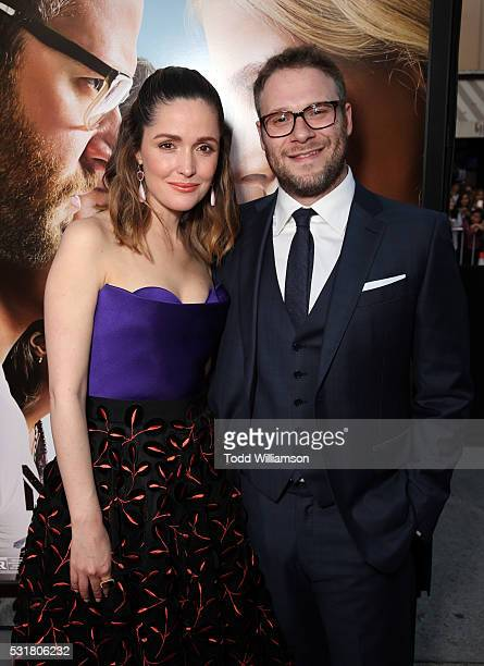 Actress Rose Byrne and Writer/producer/actor Seth Rogen attend the premiere of Universal Pictures' 'Neighbors 2 Sorority Rising' at the Regency...