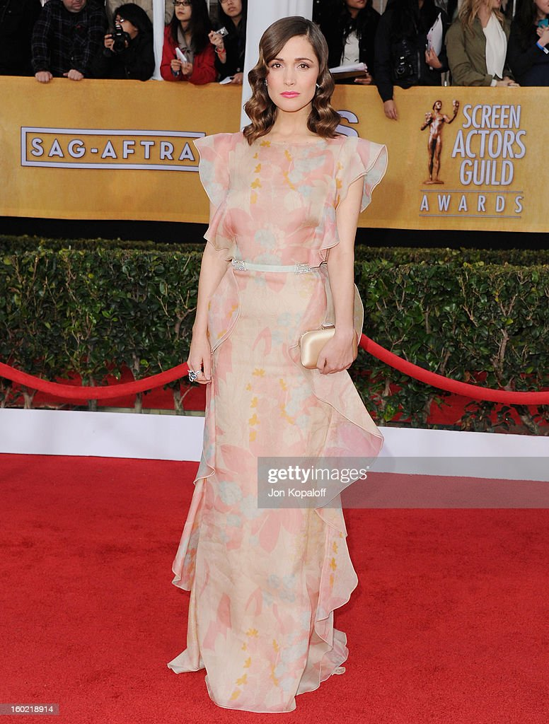 Actress Rose Byrne arrives at the 19th Annual Screen Actors Guild Awards at The Shrine Auditorium on January 27, 2013 in Los Angeles, California.