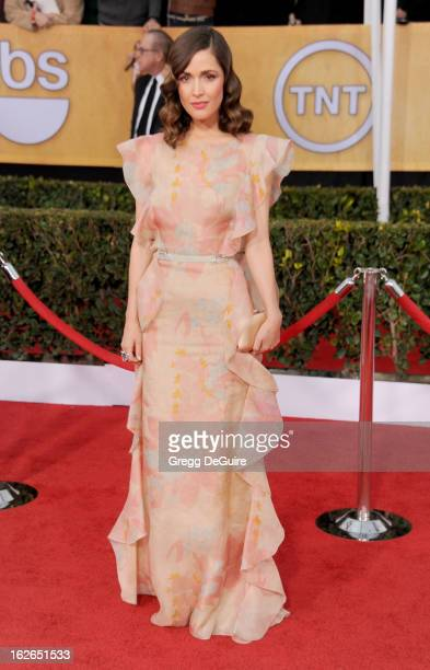 Actress Rose Byrne arrives at the 19th Annual Screen Actors Guild Awards at The Shrine Auditorium on January 27 2013 in Los Angeles California