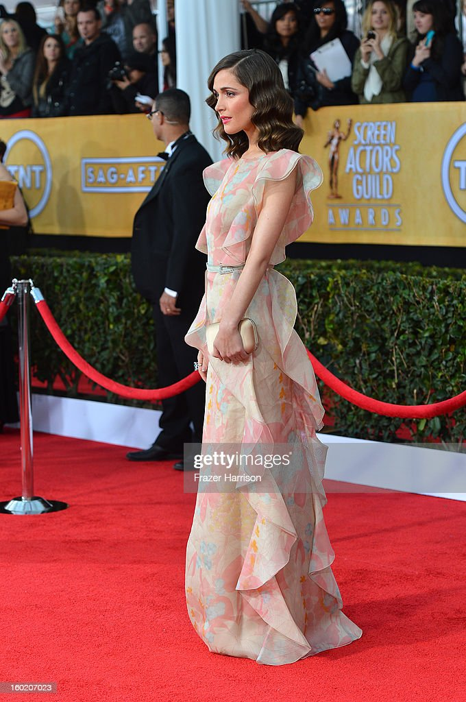 Actress Rose Byrne arrives at the 19th Annual Screen Actors Guild Awards held at The Shrine Auditorium on January 27, 2013 in Los Angeles, California.