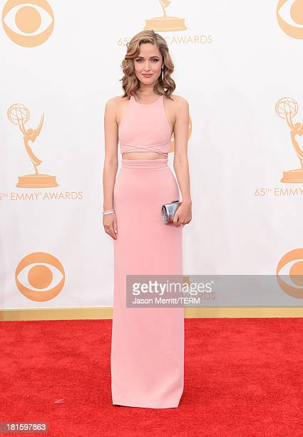 Actress Rose Byrne arrives at the 65th Annual Primetime Emmy Awards held at Nokia Theatre LA Live on September 22 2013 in Los Angeles California