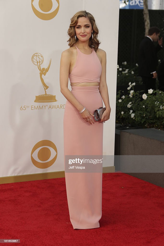 Actress Rose Byrne arrives at the 65th Annual Primetime Emmy Awards held at Nokia Theatre L.A. Live on September 22, 2013 in Los Angeles, California.