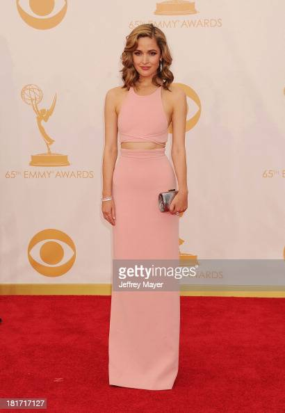 Actress Rose Byrne arrives at the 65th Annual Primetime Emmy Awards at Nokia Theatre LA Live on September 22 2013 in Los Angeles California