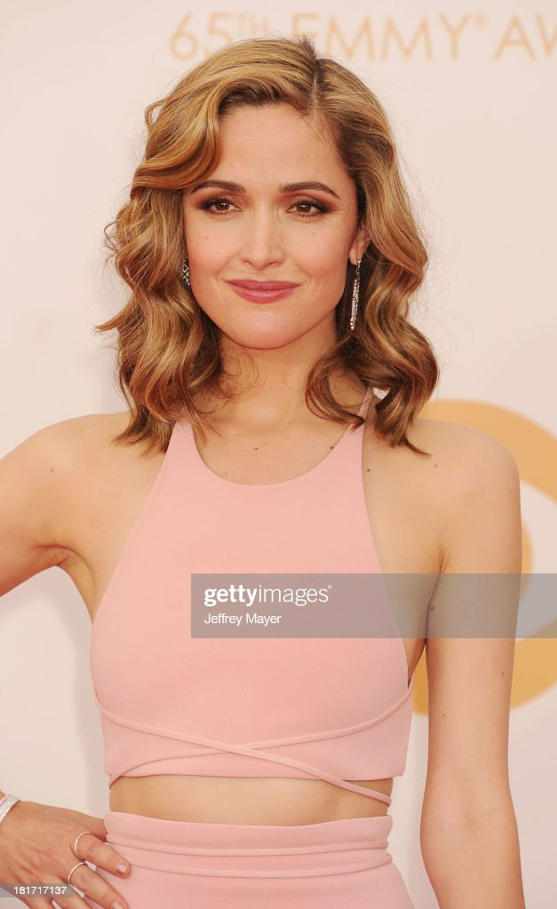 Actress <a gi-track='captionPersonalityLinkClicked' href=/galleries/search?phrase=Rose+Byrne&family=editorial&specificpeople=206670 ng-click='$event.stopPropagation()'>Rose Byrne</a> arrives at the 65th Annual Primetime Emmy Awards at Nokia Theatre L.A. Live on September 22, 2013 in Los Angeles, California.