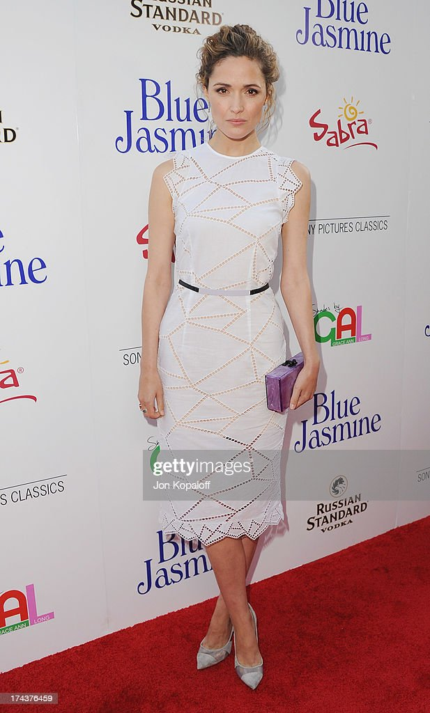Actress <a gi-track='captionPersonalityLinkClicked' href=/galleries/search?phrase=Rose+Byrne&family=editorial&specificpeople=206670 ng-click='$event.stopPropagation()'>Rose Byrne</a> arrives at the Los Angeles Premiere 'Blue Jasmine' at the Academy of Motion Picture Arts and Sciences on July 24, 2013 in Beverly Hills, California.