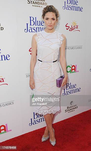 Actress Rose Byrne arrives at the Los Angeles Premiere 'Blue Jasmine' at the Academy of Motion Picture Arts and Sciences on July 24 2013 in Beverly...