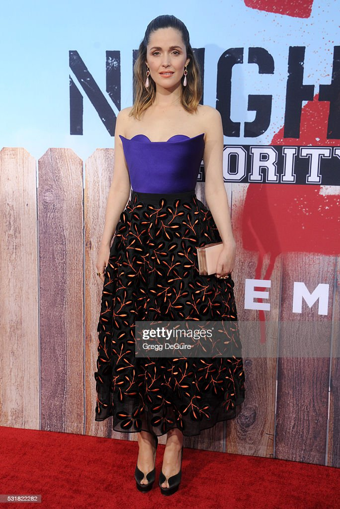 Actress Rose Byrne arrives at the premiere of Universal Pictures' 'Neighbors 2: Sorority Rising' on May 16, 2016 in Westwood, California.