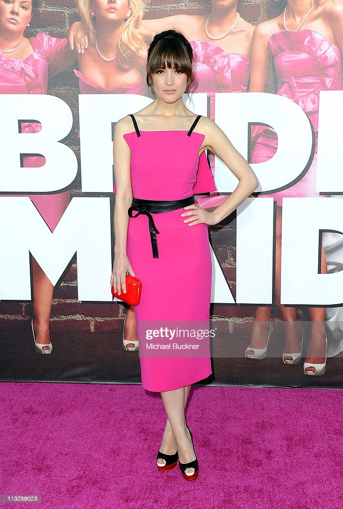 Actress Rose Byrne arrives at the Premiere of Universal Pictures' 'Bridesmaids' at the Mann Village Theatre on April 28, 2011 in Westwood, California.