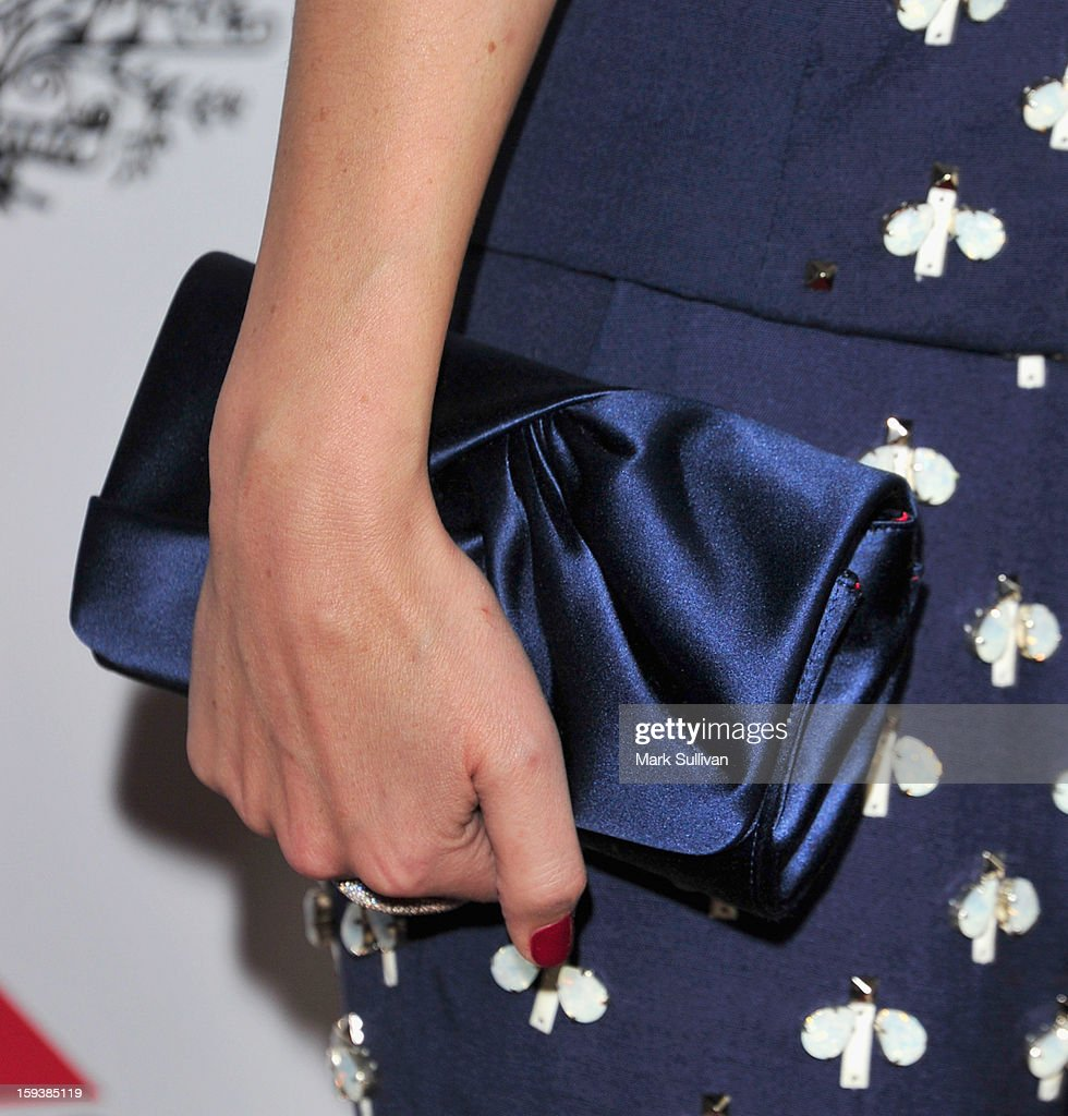 Actress Rose Byrne (handbag detail) at the G'Day USA Black Tie Gala held at at the JW Marriot at LA Live on January 12, 2013 in Los Angeles, California.