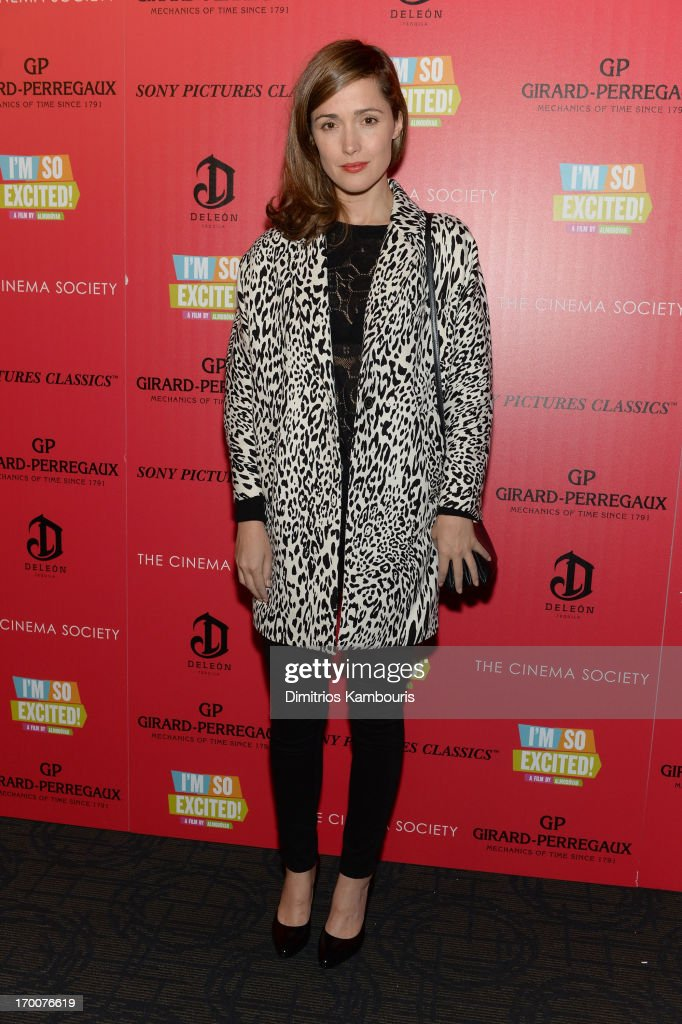 Actress Rose Byrne attends GirardPerregaux And The Cinema Society With DeLeon Host a Screening Of Sony Pictures Classics' 'I'm So Excited' at...