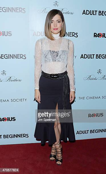 Actress Rose Byrne attends RADiUS with the Cinema Society Brooks Brothers host the New York premiere of 'Adult Beginners' at AMC Lincoln Square...