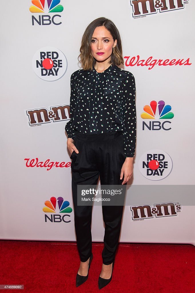 Actress Rose Byrne attends the 2015 Red Nose Day Charity Event at the Hammerstein Ballroom on May 21 2015 in New York City