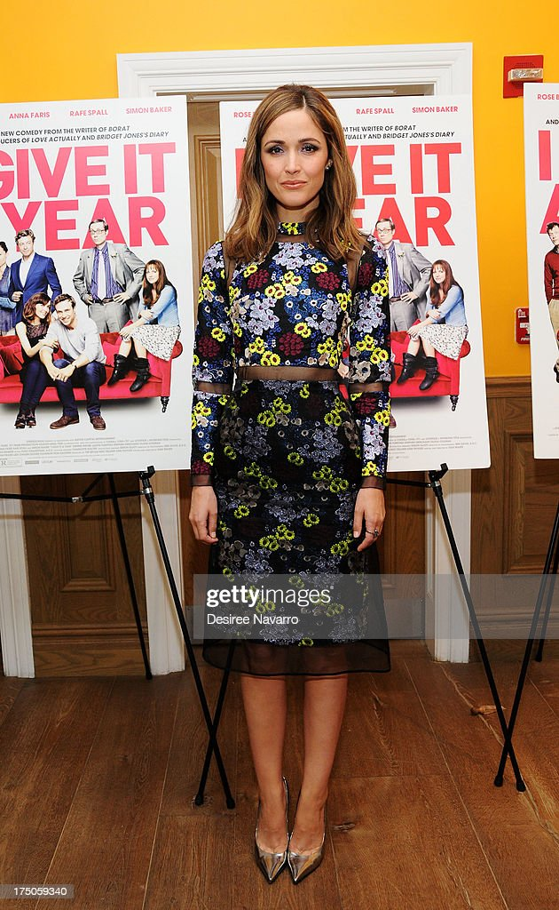 Actress Rose Byrne attends the 'I Give It A Year' New York Screening at the Crosby Street Theater on July 30, 2013 in New York City.