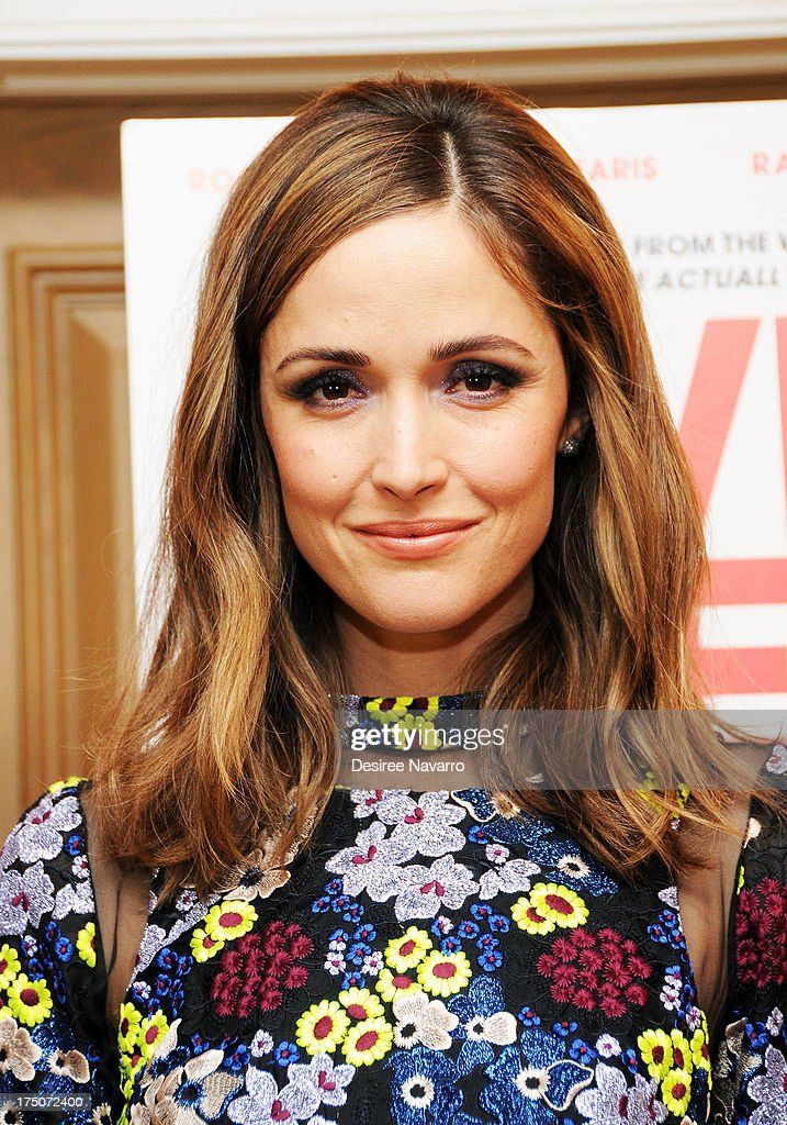 Actress <a gi-track='captionPersonalityLinkClicked' href=/galleries/search?phrase=Rose+Byrne&family=editorial&specificpeople=206670 ng-click='$event.stopPropagation()'>Rose Byrne</a> attends the 'I Give It A Year' New York Screening at the Crosby Street Theater on July 30, 2013 in New York City.