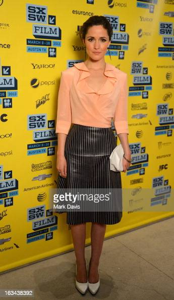 Actress Rose Byrne attends the 'I Give It A Year' red carpet arrivals at the 2013 SXSW Music Film Interactive Festival held at the Topfer Theatre at...