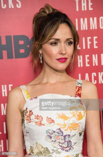 Actress Rose Byrne attends 'The Immortal Life Of Henrietta Lacks' New York Premiere at SVA Theater on April 18 2017 in New York City