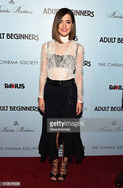 Actress Rose Byrne attends the New York premiere of 'Adult Beginners' hosted by RADiUS with The Cinema Society Brooks Brothers at AMC Lincoln Square...