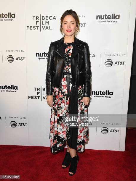 Actress Rose Byrne attends the Premiere of 'Hair' during the 2017 Tribeca Film Festival at SVA Theater on April 21 2017 in New York City / AFP PHOTO...