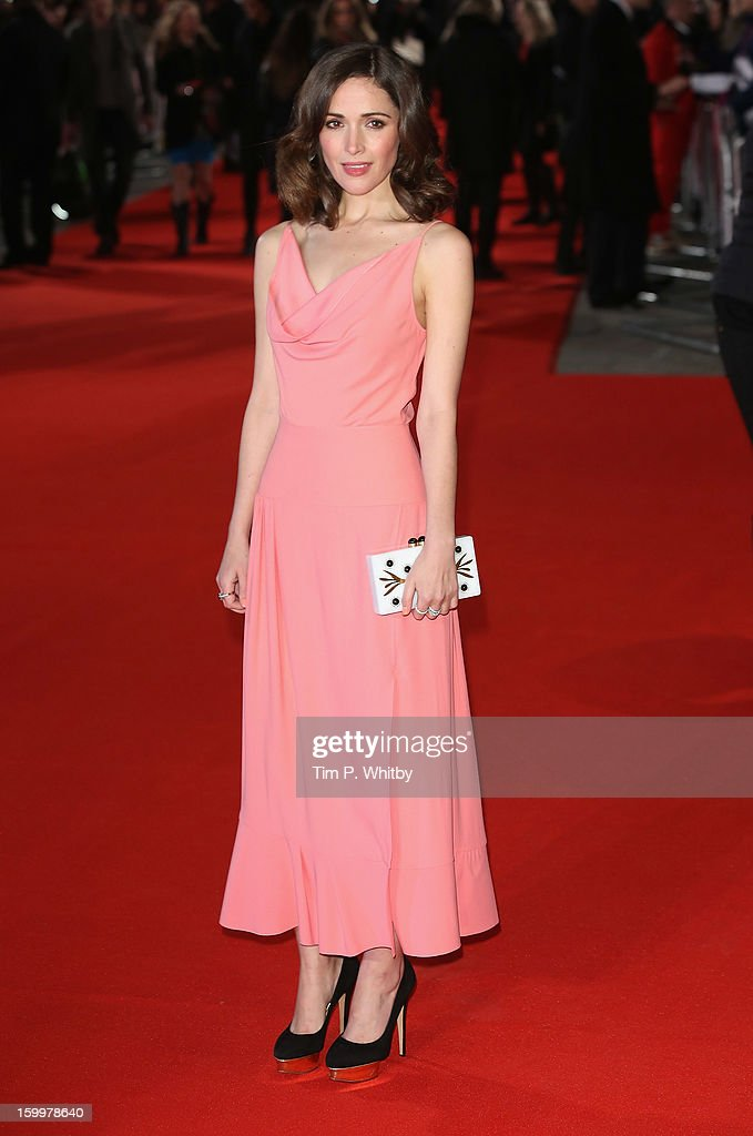 Actress Rose Byrne attends the UK Premiere of 'I Give It A Year' at the Vue West End on January 24, 2013 in London, England.