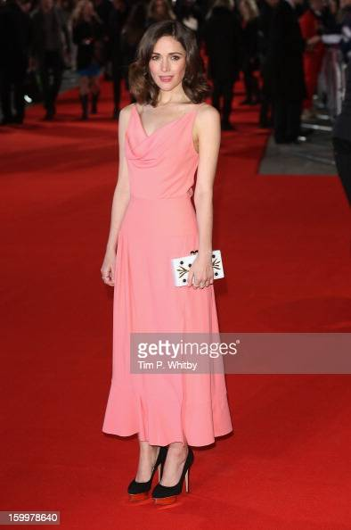 Actress Rose Byrne attends the UK Premiere of 'I Give It A Year' at the Vue West End on January 24 2013 in London England