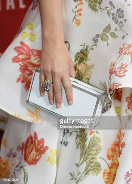 Actress Rose Byrne fashion detail attends 'The Immortal Life of Henrietta Lacks' premiere at SVA Theater on April 18 2017 in New York City