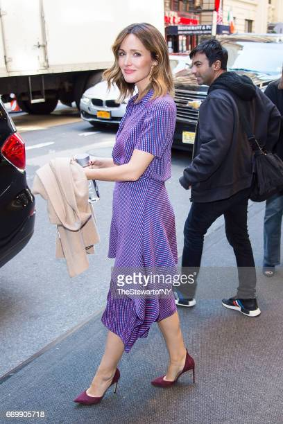 Actress Rose Byrne is seen in Midtown on April 18 2017 in New York City