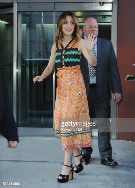 Actress Rose Byrne is seen outside CBS Morning Show on April 18 2017 in New York City