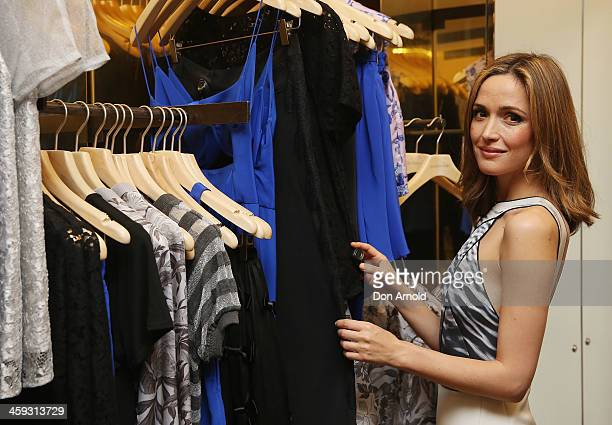 Actress Rose Byrne poses inside the David Jones city store just after it opened its doors for its Boxing Day sales on December 26 2013 in Sydney...