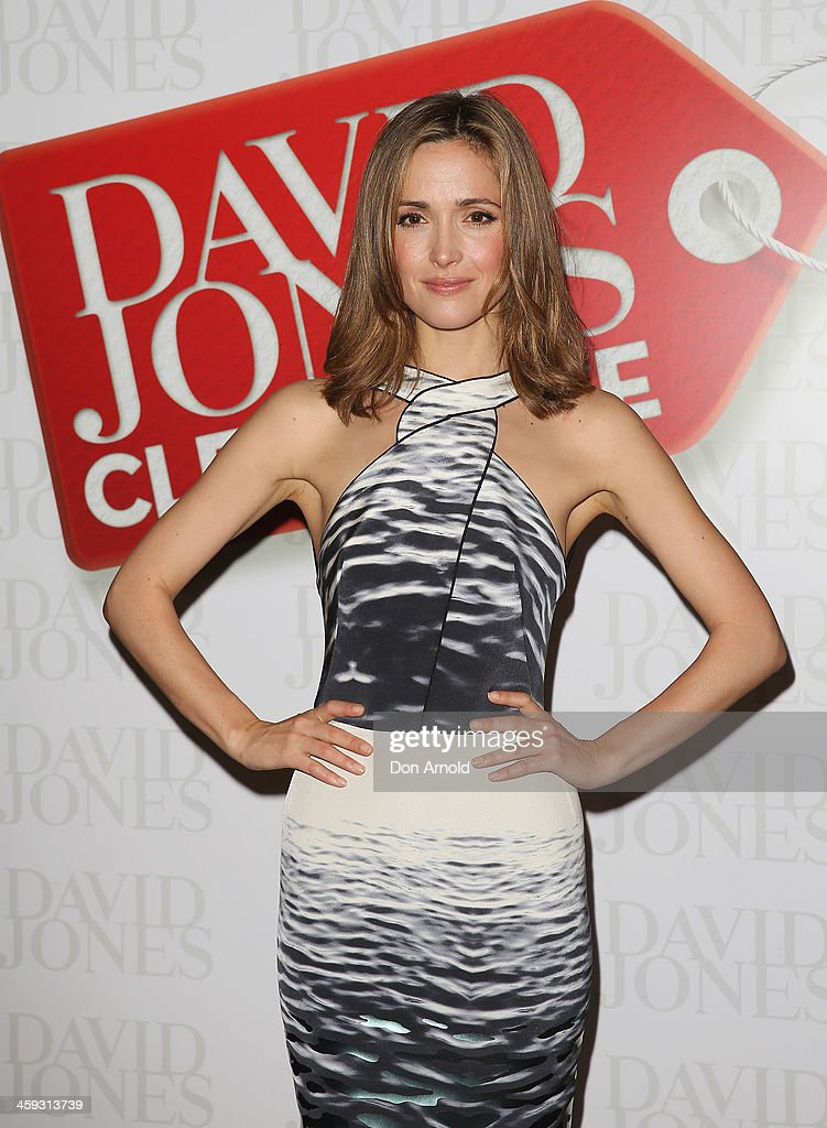 Actress <a gi-track='captionPersonalityLinkClicked' href=/galleries/search?phrase=Rose+Byrne&family=editorial&specificpeople=206670 ng-click='$event.stopPropagation()'>Rose Byrne</a> poses inside the David Jones city store just after it opened its doors for its Boxing Day sales on December 26, 2013 in Sydney, Australia. Boxing Day is one of the busiest days for retail outlets in Sydney with thousands takaing advantage of the post-Christmas sale prices.