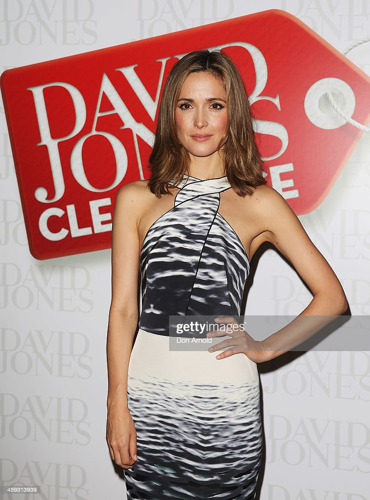 Actress Rose Byrne poses inside the David Jones city store just after it opened its doors for its Boxing Day sales on December 26, 2013 in Sydney, Australia. Boxing Day is one of the busiest days for retail outlets in Sydney with thousands takaing advantage of the post-Christmas sale prices.