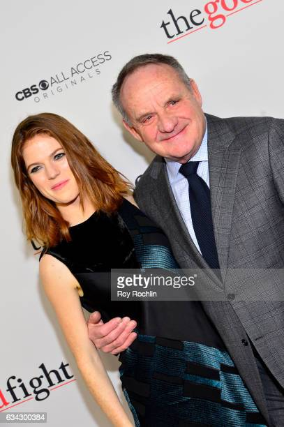 Actress Rose Leslie and Paul Guilfoyle attend 'The Good Fight' World Premiere at Jazz at Lincoln Center on February 8 2017 in New York City