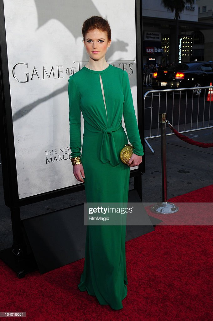 Actress Rose Leslie attends 'Game Of Thrones' Los Angeles premiere presented by HBO at TCL Chinese Theatre on March 18, 2013 in Hollywood, California.