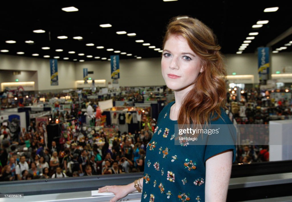 Actress <a gi-track='captionPersonalityLinkClicked' href=/galleries/search?phrase=Rose+Leslie&family=editorial&specificpeople=7275579 ng-click='$event.stopPropagation()'>Rose Leslie</a> attends HBO's 'Game Of Thrones' cast autograph signing at San Diego Convention Center on July 19, 2013 in San Diego, California.